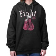 Fight For A Cure Breast Cancer Awareness Womens Clothes Gift Hoodie Sweatshirt