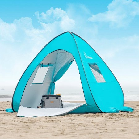 Wolfwise UPF 50+ Pop Up Beach Tent Outdoor Portable Sun Shelter Picnic