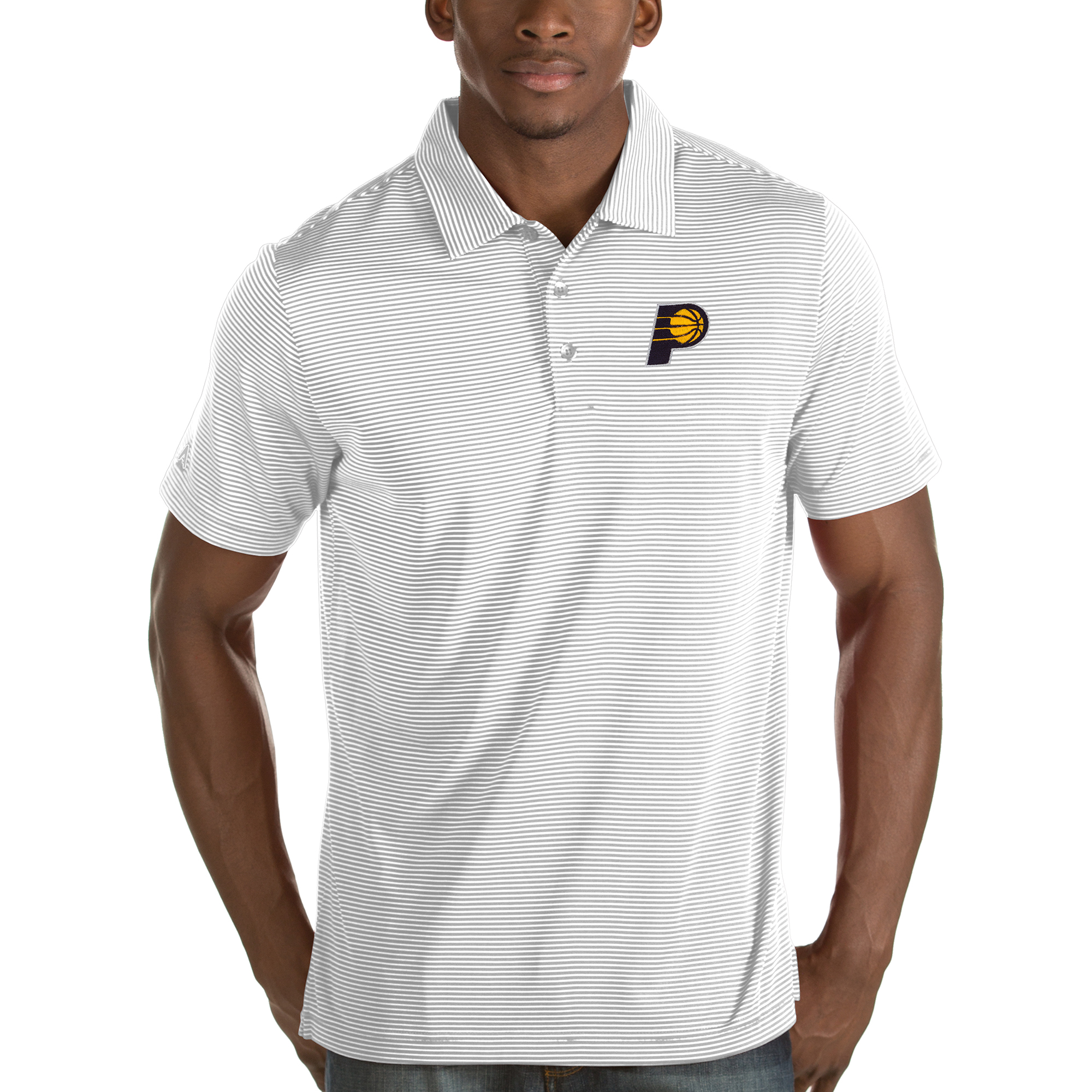 Indiana Pacers Antigua Quest Polo - White