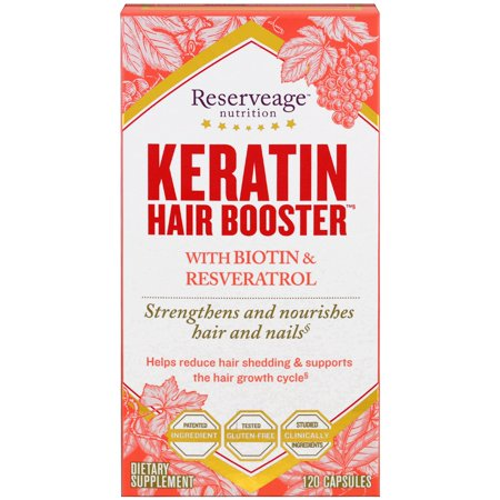 ReserveAge Nutrition  Keratin Hair Booster  With Biotin   Resveratrol  120 (Reserveage Keratin Booster With Biotin & Resveratrol Reviews)