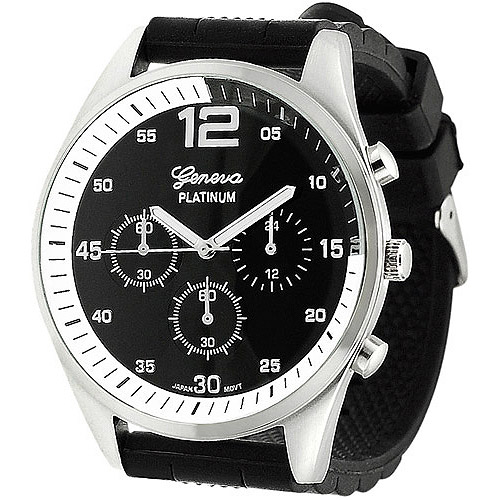 Aktion Men's Chronograph-Style Silicone Watch