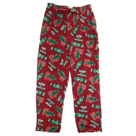 elf movie mens red christmas holiday fleece sleep pants pajama bottoms walmartcom - Walmart Christmas Pajamas