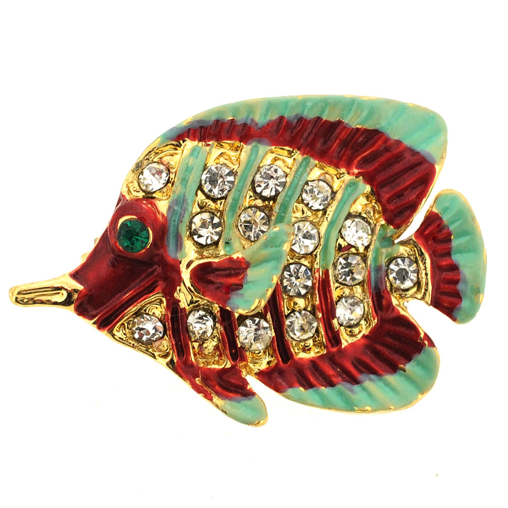 Multicolor Fish Pin Brooch by