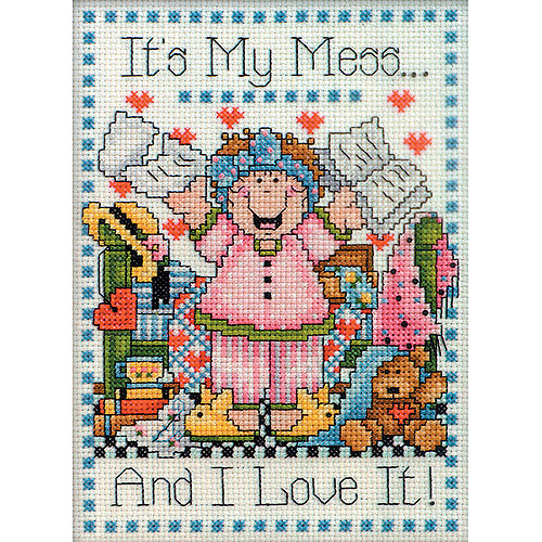 Tobin Counted Cross-Stitch Kit, My Mess