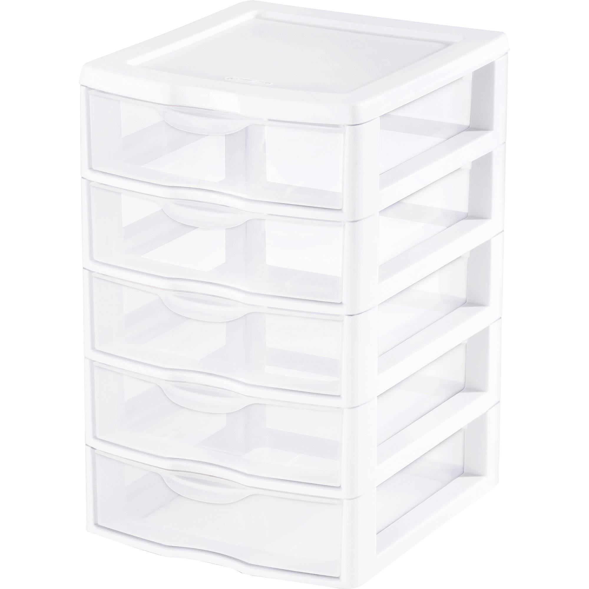 Sterilite Small 5 Drawer Unit- White (Available in Case of 4 or Single Unit)