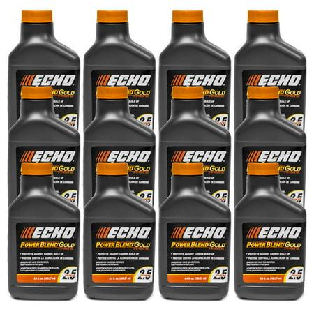 Blend Gallon - 12PK Echo Oil 6.4 oz Bottles 2 Cycle Mix for 2.5 Gallon – Power Blend 6450025