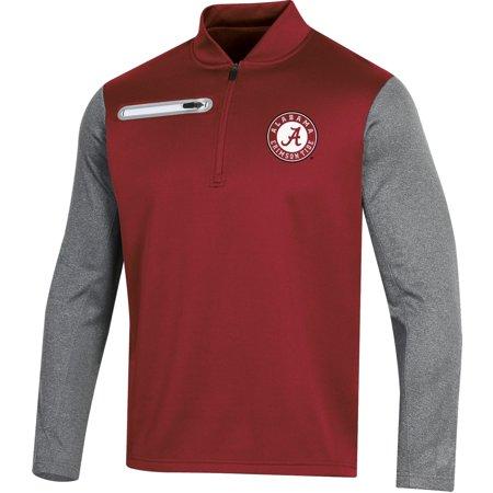 Men's Russell Crimson Alabama Crimson Tide Colorblock Half-Zip Pullover Jacket ()