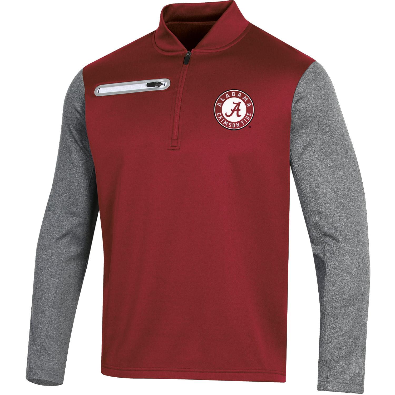 Men's Russell Crimson Alabama Crimson Tide Colorblock Half-Zip Pullover Jacket