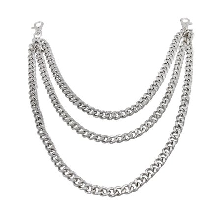 Triple Strand Cuban Link Chrome Plated Jeans Chain (Small Chain Wallet)