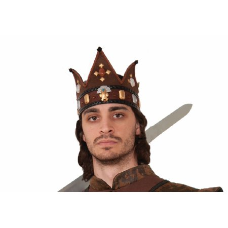 Medieval Game King Prince Knight Earth Brown Crown of Thrones Costume Accessory](Renaissance Crown)