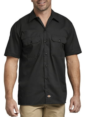 Big Men's Short Sleeve Twill Work Shirt