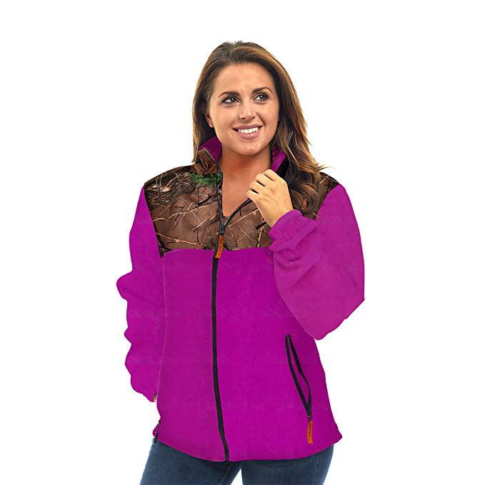 TrailCrest Womens Fleece Wind Jacket Hot Pink
