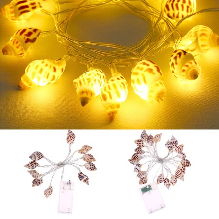 Homeholiday 10/20 LED Conch String Lights Beach Themed Party Battery-powered Bedroom Light Decoration - image 3 of 8