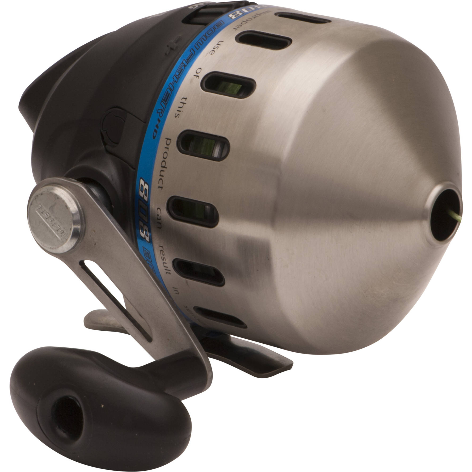 Zebco 808 Bowfishing Reel Stainless Steel Cover, 200 lb Braid