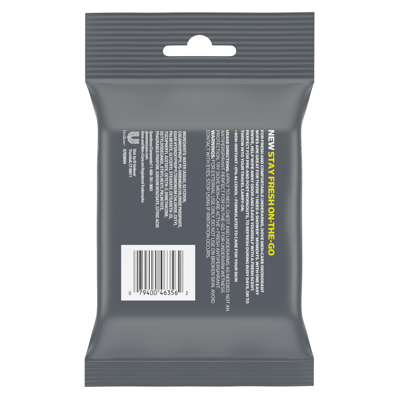 74144b950f5187 Dove Men+Care On-The-Go Deodorant Wipes Active + Fresh 25ct - Walmart.com