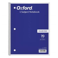 Tops 65022 8 x 10.5 in. 1-Subject Notebook College Rule, Assorted Colors - 70 Sheets