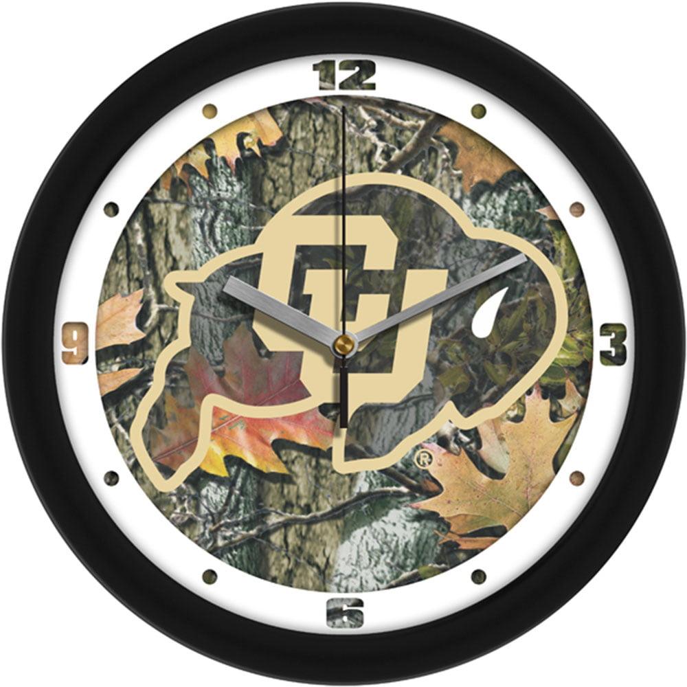 Colorado Golden Buffaloes NCAA Wall Clock (Camo)