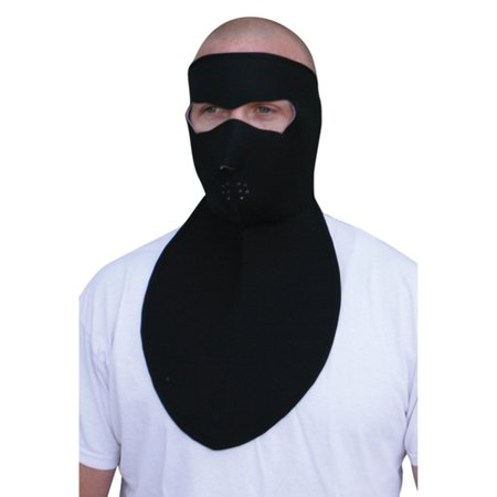 Zan Headgear Full Face Neoprene Mask with Neck Shield (Black, OSFM)