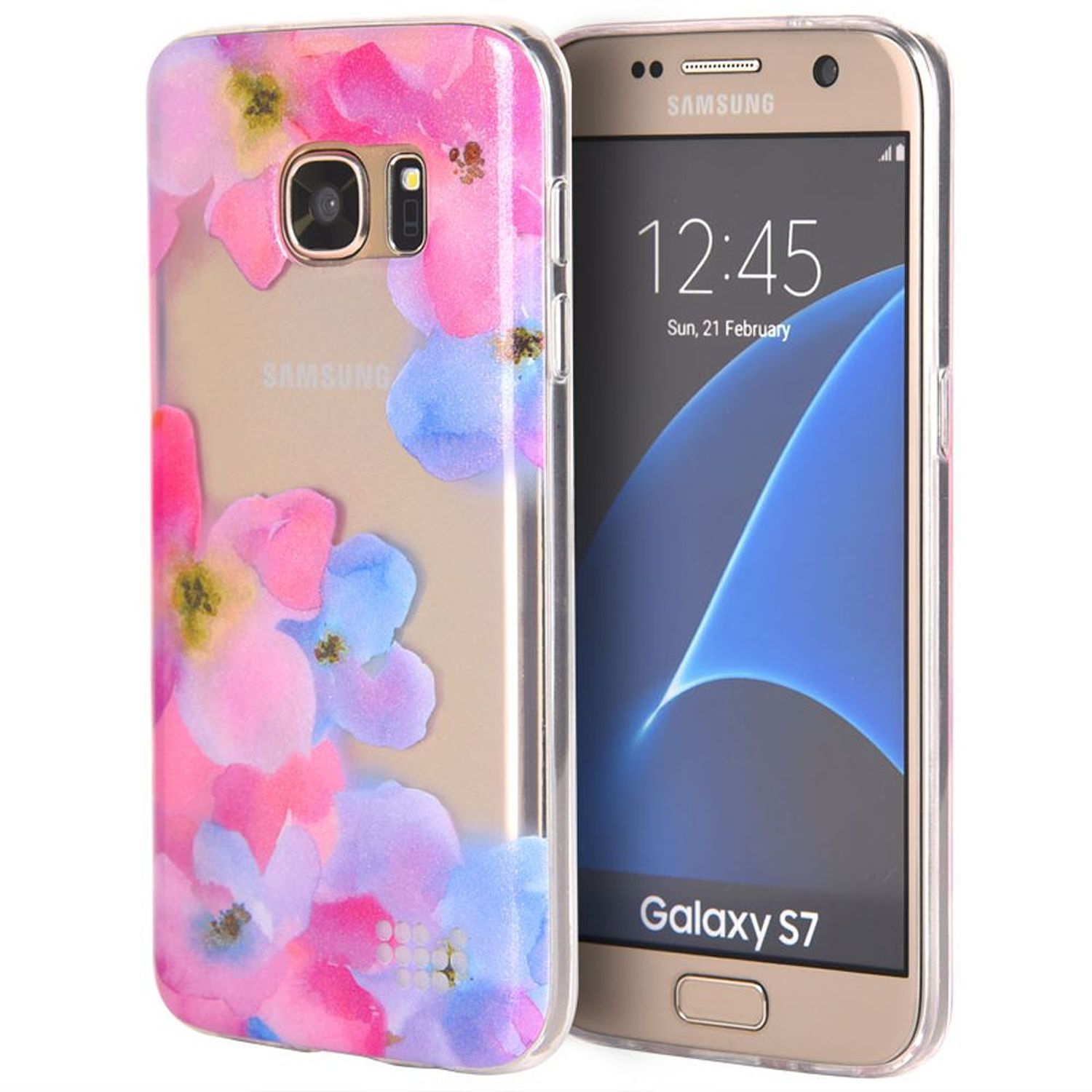 Samsung Galaxy S7 Case, by Insten Be Enchanted TPU IMD Rubber Skin Gel Back Shell Case For Samsung Galaxy S7 - Pink/Purple
