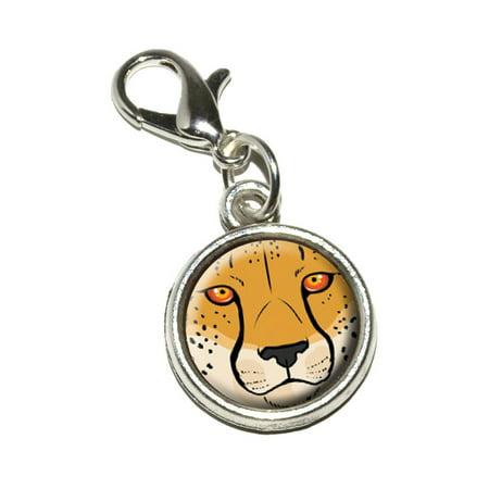 Cheetah Face - Safari Big Cat Bracelet Charm - Safari Jewelry
