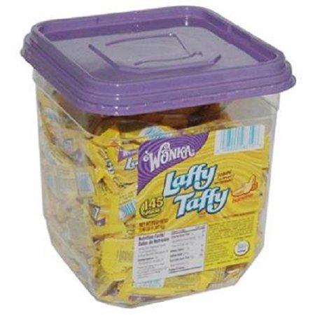 WONKA LAFFY TAFFY BANANA - Tub 0.34 oz Each ( 145 in a Pack ) - Calories In Taffy