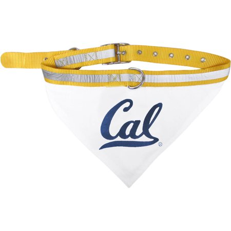 Pets First College California Golden Bears Pet Bandana, 3 Sizes Available with Collar - Gold Bandanas