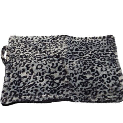 Tucker Murphy Pet Brownfield Thermal Cat Self Warming Bed Gray White Black Leopard Print