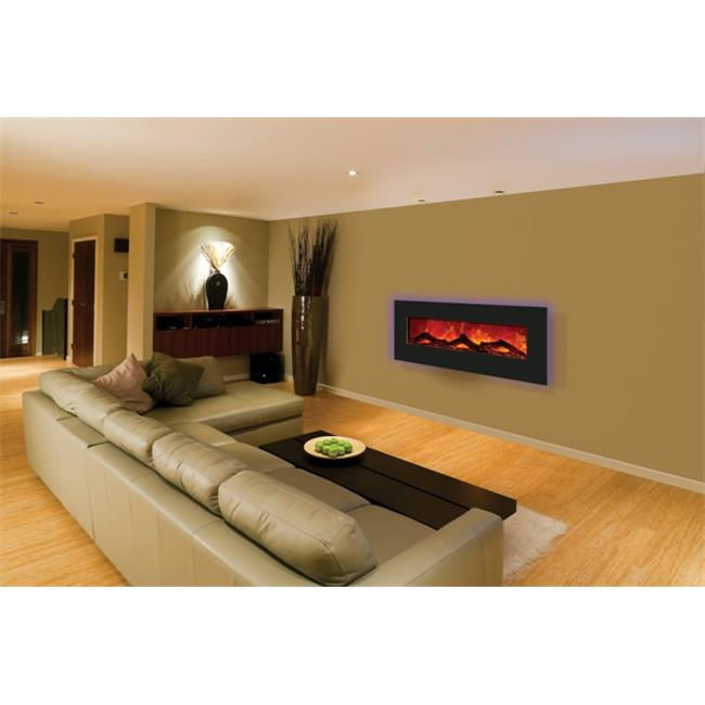 Amantii 5823-BLKGLS 58 x 23 In. Black Glass Surround