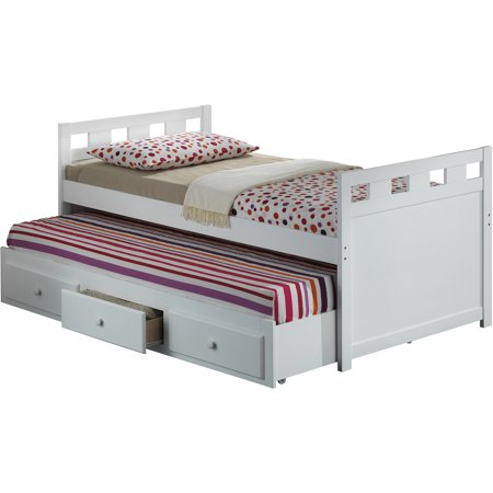 Broyhill kids breckenridge twin captain 39 s bed with trundle - White twin captains bed with drawers ...