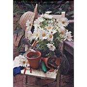 Daisy Planting Time Spring Garden Flag