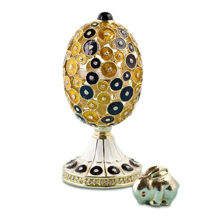 5   Bunny Surprise Figurine Faberge Inspired Russian Easter Egg