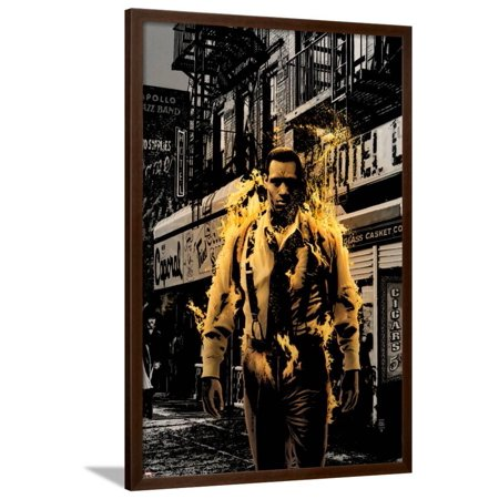 Luke Cage Noir No.3 Cover: Cage and Luke Framed Print Wall Art By Tim - Nachi Roller Bronze Cage