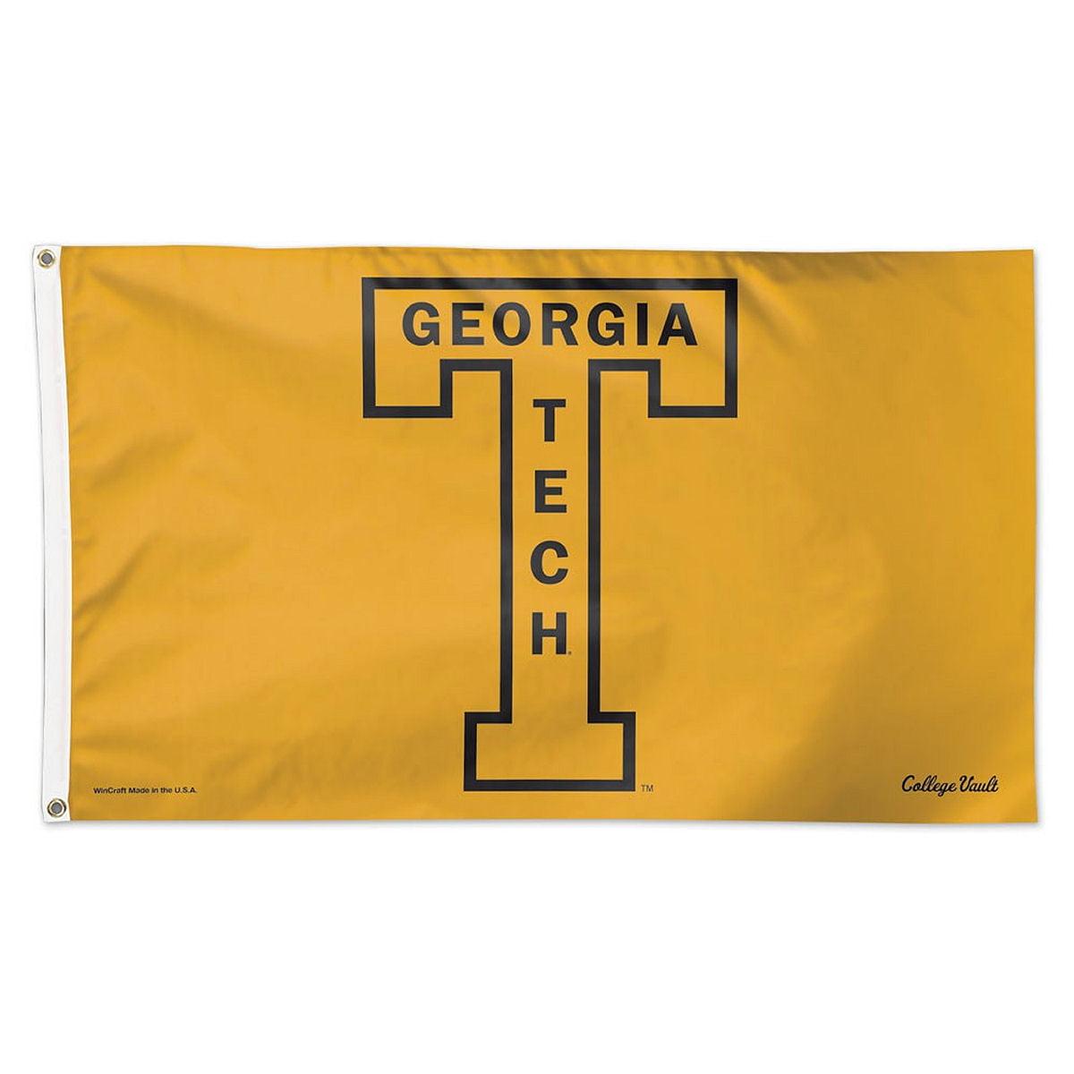 Georgia Tech Yellow Jackets Throwback Vintage 3' x 5' Pole Flag