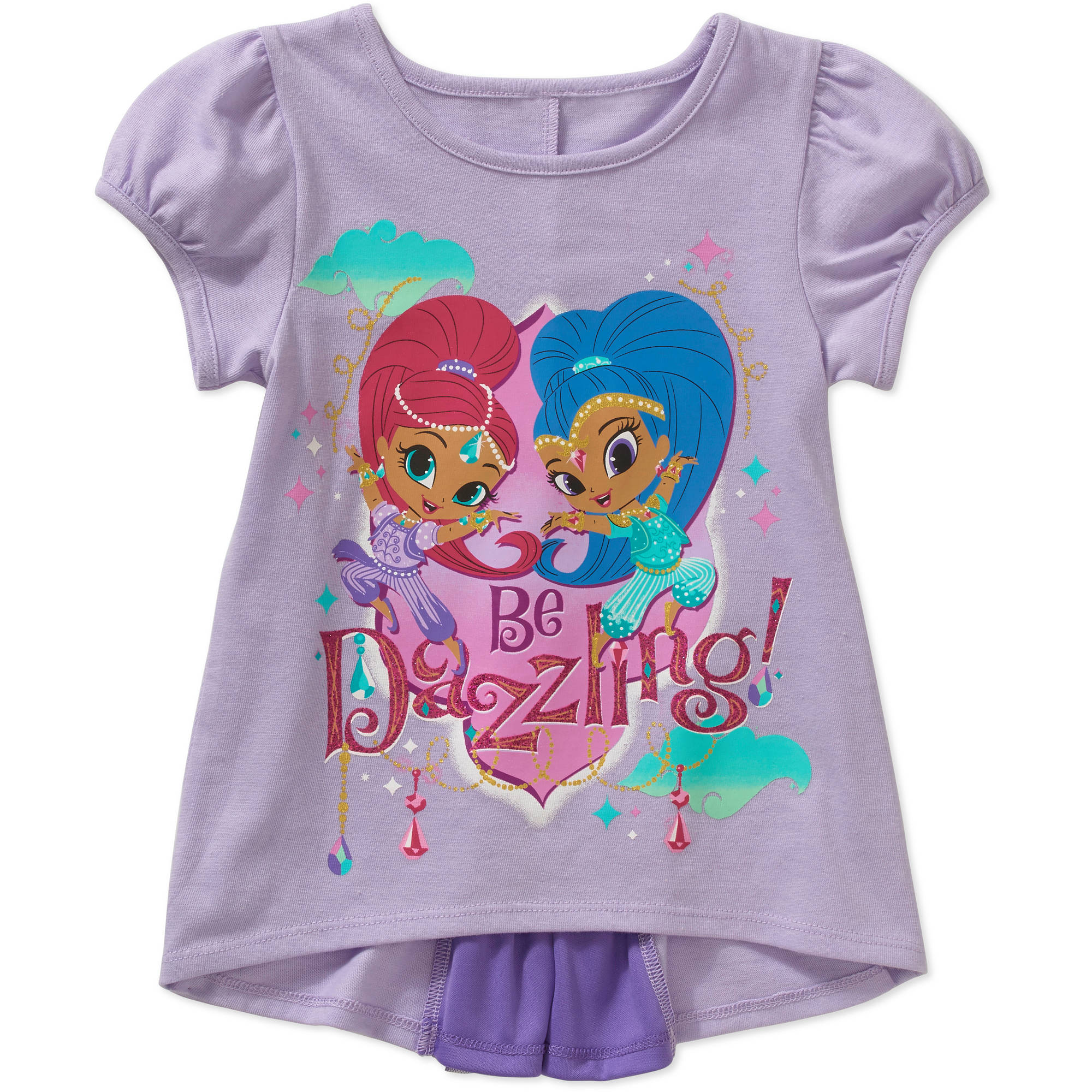 Shimmer and Shine Toddler Girl Bow Back Graphic Tee Shirt