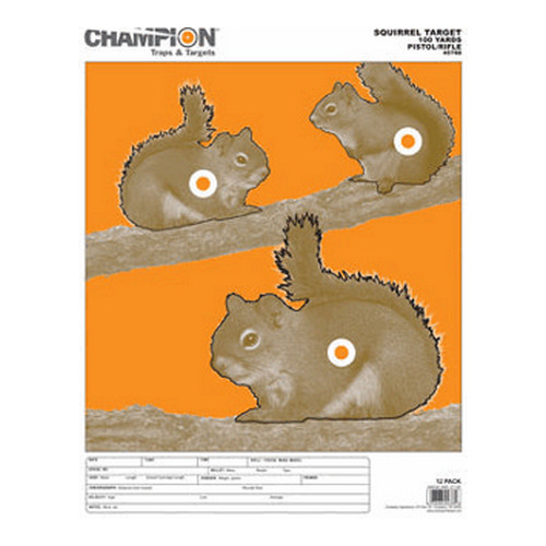 Champion Practice Targets 45788 Squirrel Large (12 Pk)
