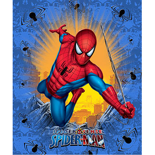 "Marvel Spider-Man Fleece Throw, 46""x60"""