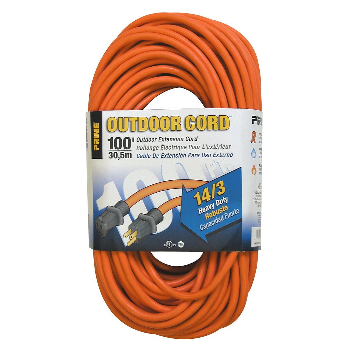 Prime EC501735 100' 14/3 SJTW Orange Extension Cord