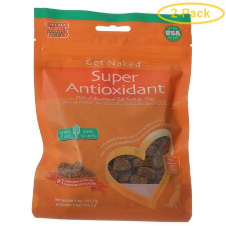 Get Naked Super Antioxidant Soft Dog Treats - Chicken Flavor 5 oz - Pack of