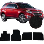 Compatible with 10-17 Chevy Equinox Floor Mats Front & Rear 4PC Black Nylon