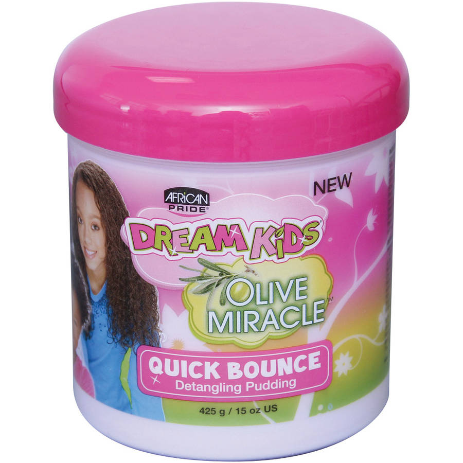 African Pride Dream Kids Olive Miracle Quick Bounce Detangling Pudding, 15 oz