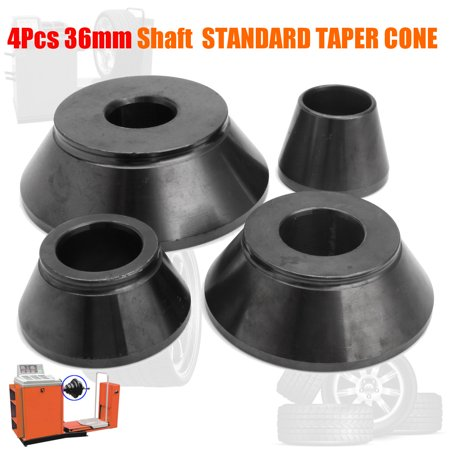 "4Pcs 1.75"" - 5.25"" #45 Wheel Balancer Standard Taper Cone Coats Kits 36mm Shaft"