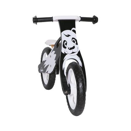 KOBE Wooden Balance Running Bike - Birch Wood No Pedals - Perfect Training Bike For Toddlers & Kids - Panda - image 4 de 11