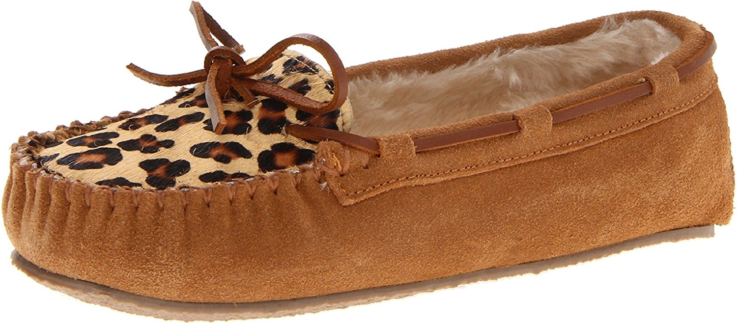 Minnetonka Women's Leopard Cally Slipper Moccasin by Minnetonka