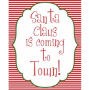 Secretly Designed Santa Coming to Town by Secretly Spoiled Textual Art