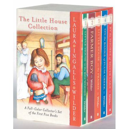 The Little House Collection  A Full Color Collectors Set Of The First Five Books  Little House In The Big Woods  Farmer Boy  Little House On The Prairie  On The Banks Of Plum Cre