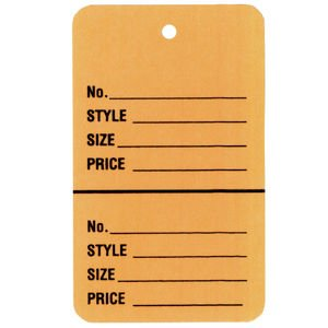 Beige Perforated Tags 1 3 4 X 2 7 8 Case Of 1000  Each Tag Comes In A Range Of Colors Per Month  By Retail Resource Ship From Us