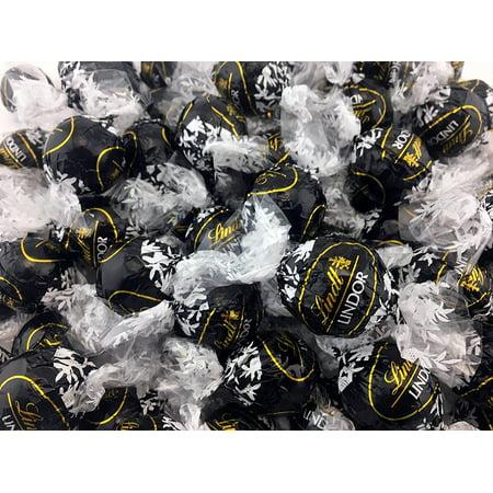 Lindt LINDOR 60% Extra Dark Chocolate Truffles, Black Wrap (Pack of 2 Pounds) ()