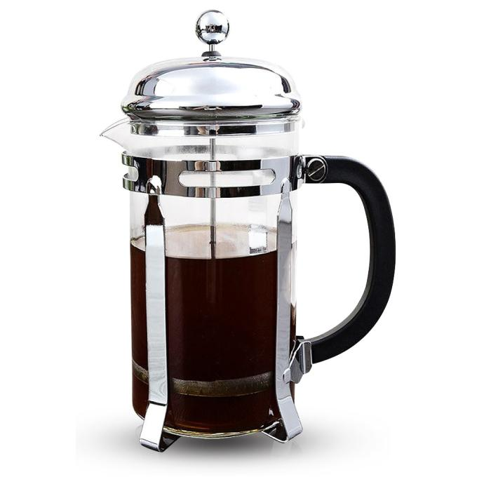 Chambord 8 cup French Press Coffee Maker 8 Cup/4 Mug 1 liter 34 oz Chrome