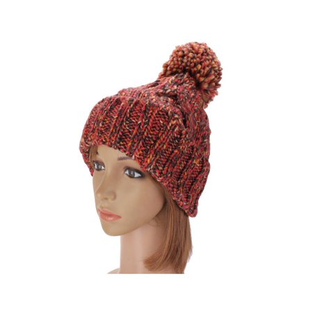52bc0a78a47 New Winter Warm Women Ladies Knit Ski Beanie Ball Wool Crochet Cuff Hat Ski  Cap - Walmart.com