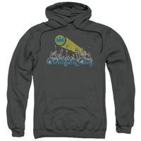 Trevco Batman-Gotham City Distressed - Adult Pull-Over Hoodie - Charcoal, Extra Large